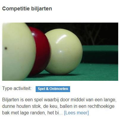 Competitie biljarten