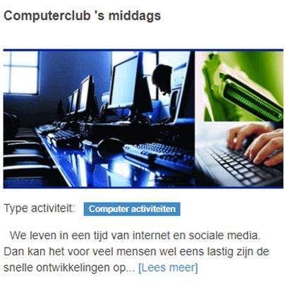 Computerclub 's middags
