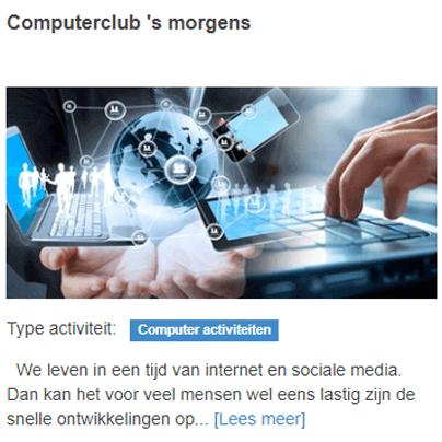 computerclub 's morgens